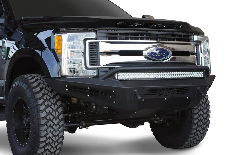 Dually Front Bumpers : Ford f add honeybadger front bumper