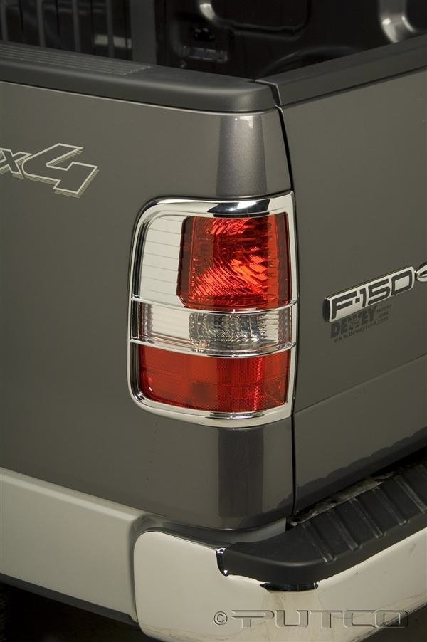 putco 401807 f 150 chrome tail light covers ebay. Black Bedroom Furniture Sets. Home Design Ideas