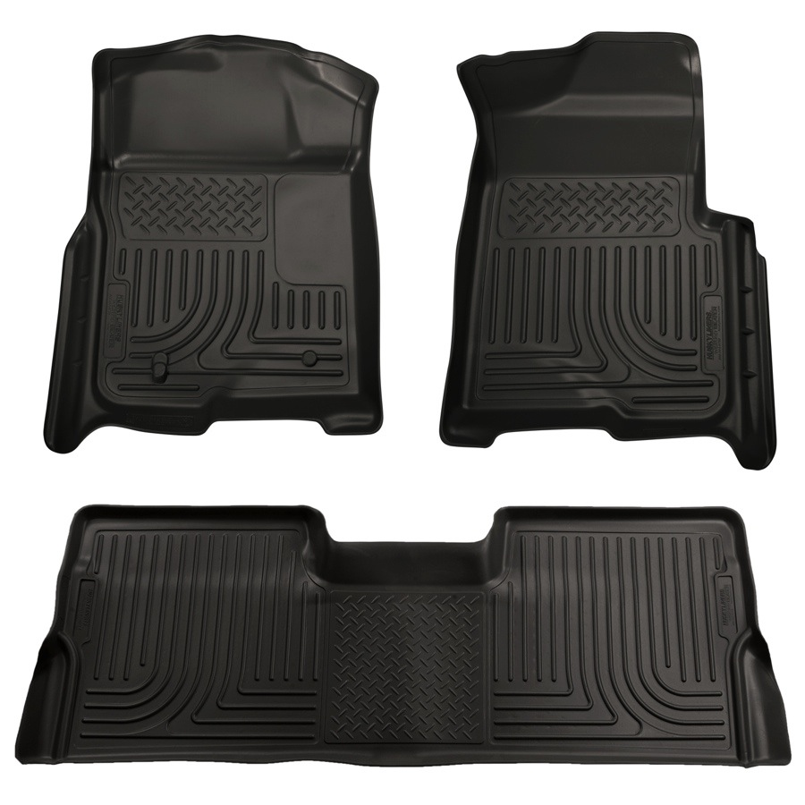 2009 2014 Ford F150 Husky Liners Weatherbeater Floor