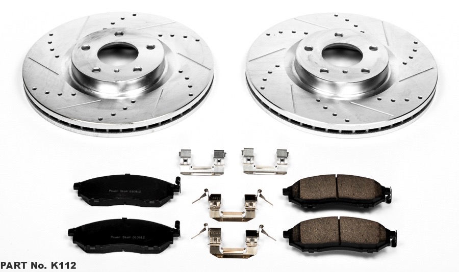 2007 For Pontiac Wave Front Anti Rust Coated Disc Brake Rotors and Ceramic Brake Pads Stirling