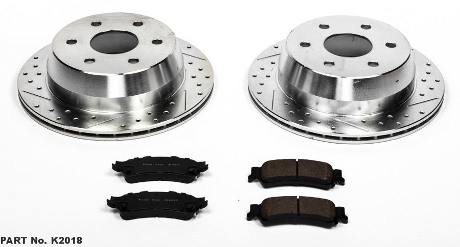 Power Stop K2020 Front Brake Kit with Drilled//Slotted Brake Rotors and Z23 Evolution Ceramic Brake Pads