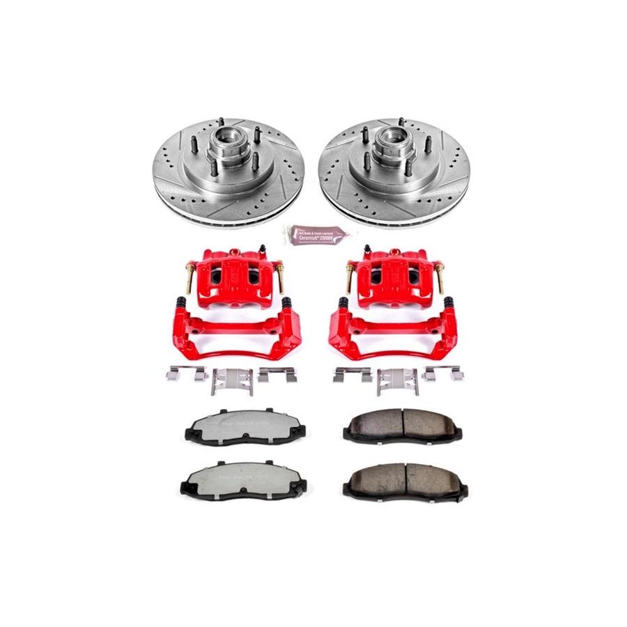 1997 2000 Ford F150 Power Stop Z36 Truck Amp Tow Brake Kit