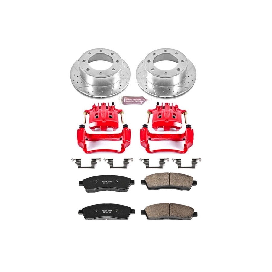 2000 2004 Ford F250 Power Stop Performance Brake Kit With