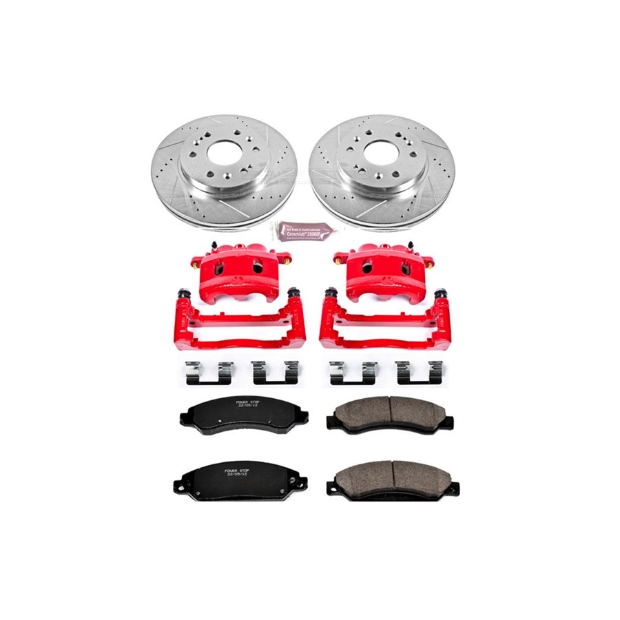 2005 2007 Chevy Silverado Power Stop Performance Brake Kit