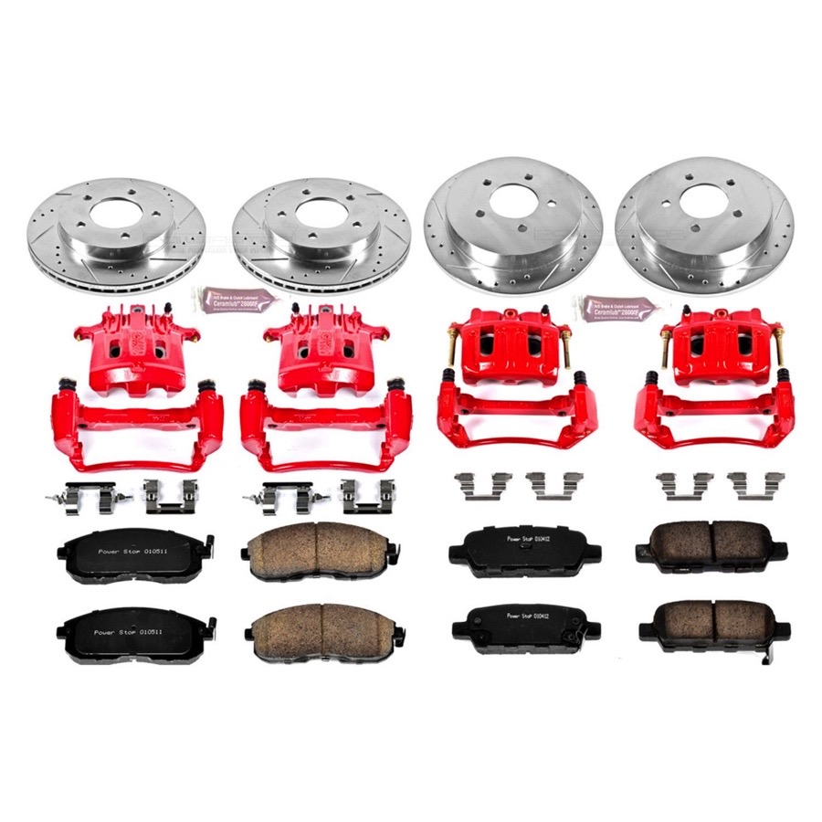 Power Stop KC2313 1-Click Performance Brake Kit with Calipers Front Only