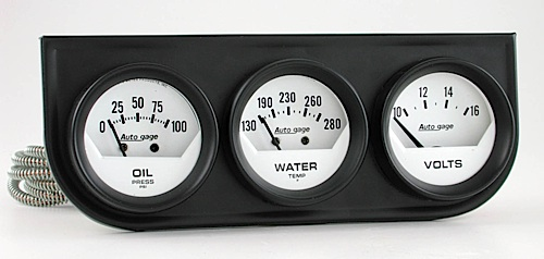 Electronic Voltmeter Gauges Oil And Water : Autometer autogage oil pressure voltmeter water